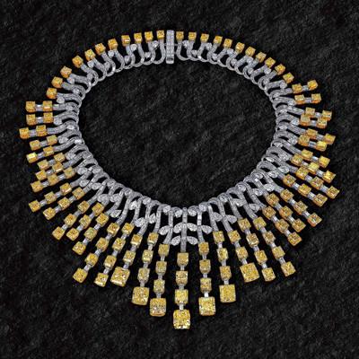 Photo: Jacob & Co diamond necklace (20.18ct Emerald Cut Diamonds, 62.09ct Baguettes Cut Diamonds, 39.17ct Pear Shape Diamonds)