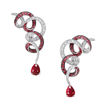 Photo: Graff Ruby and Diamond Earrings (Rubies 11.92 carats, Diamonds 4.27 carats)