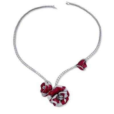 Photo: Stenzhorn Peoni Princess necklace (20.40ct white diamonds, 25.90ct rubies)
