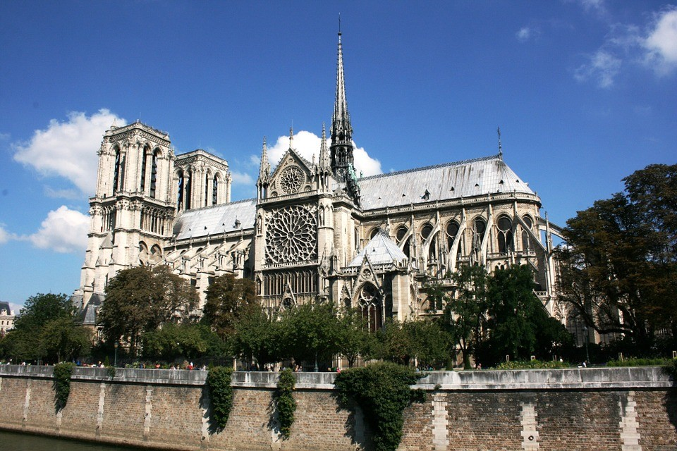 Notre Dame Cathedral as it was.