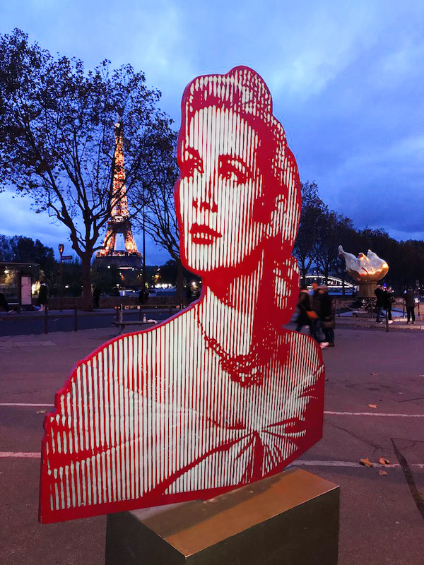 Marcos Marin's 'Optical Portrait of Grace Kelly' in Paris